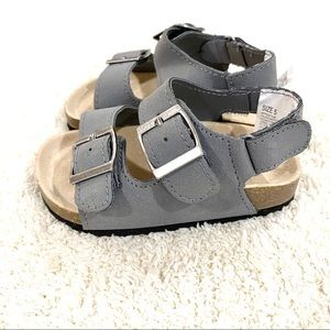 NWOT Gymboree Toddler boy's grey sandals